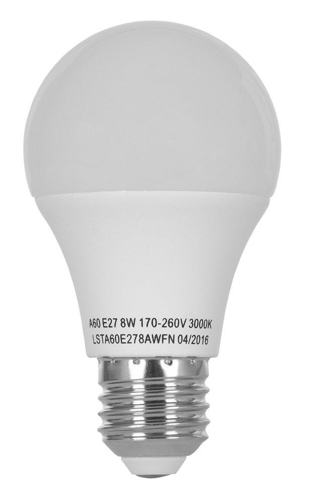 Світлодіодна лампа ERGO Standard A60 E27 8W 220V 3000K (LSTA60E278AWFN) фото2