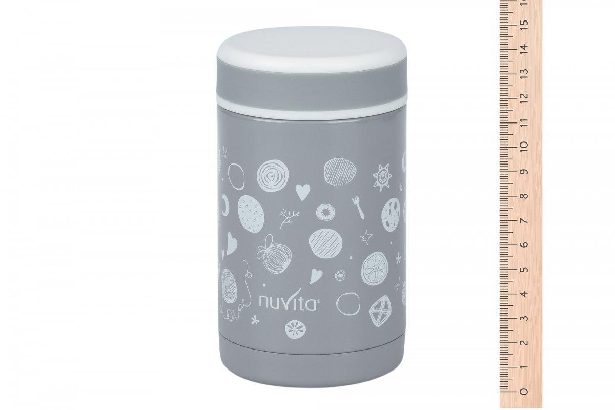 Термос металический для еды Nuvita 500 мл. Серый (NV1472) фото 3