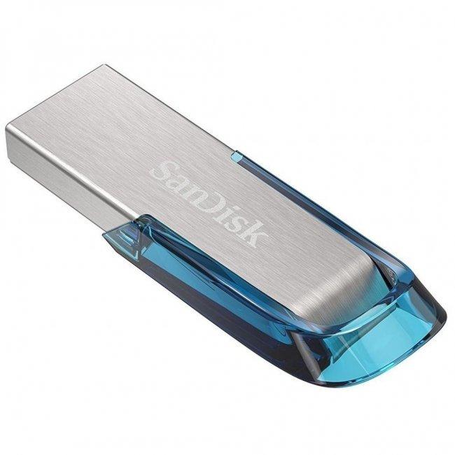 Накопичувач USB 3.0 SANDISK 64GB Flair Blue (SDCZ73-064G-G46B) фото