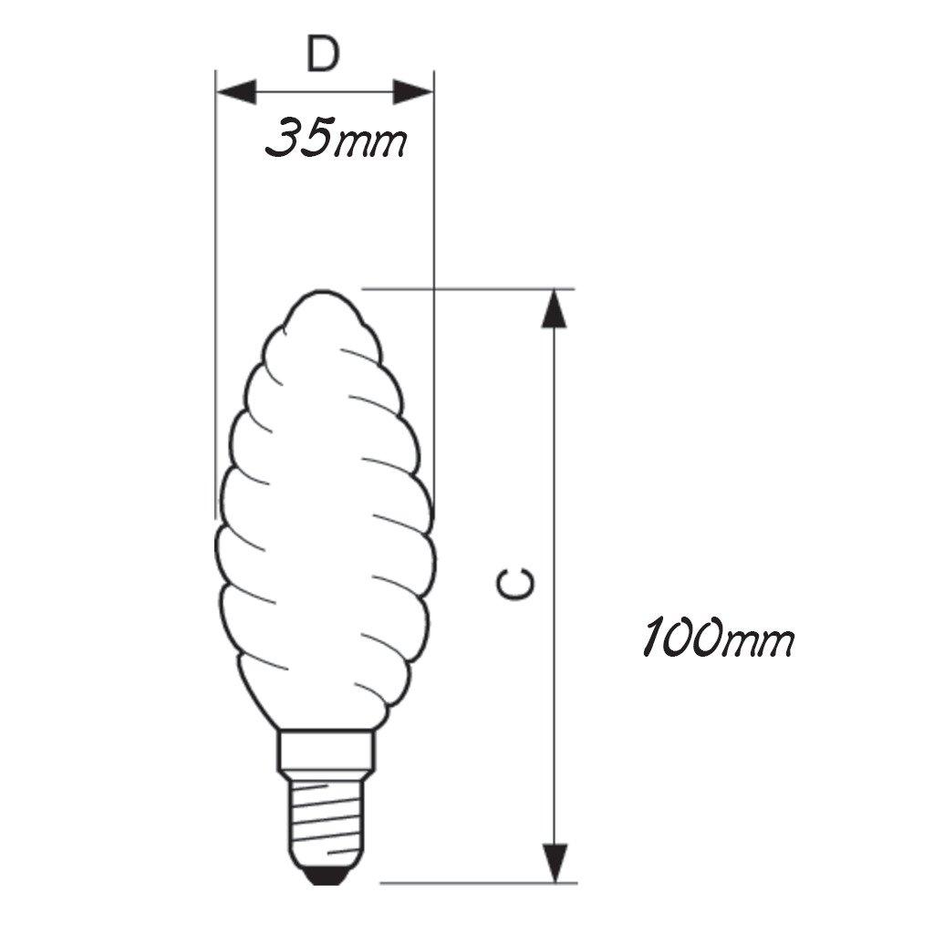 Лампа накаливания Philips E14 60W 230V BW35 FR 1CT/4X5F Deco (921502144242) фото 2