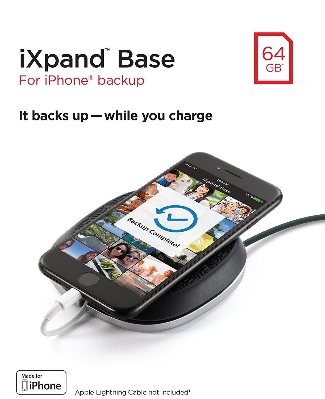 Станція зарядки і бекапа SanDisk iXpand Base for Apple Lightning 64GB (SDIB20N-064G-GN9UN) фото6