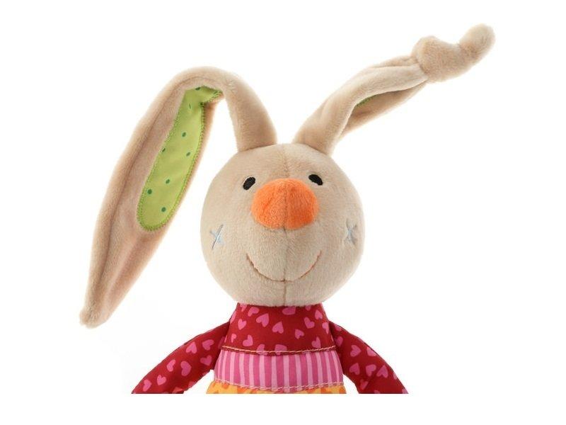 Мягкая игрушка sigikid Кролик с погремушкой 26 см (41419SK) фото