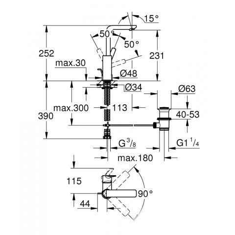 Змішувач для раковини GROHE Lineare L-Size 23296001 фото2
