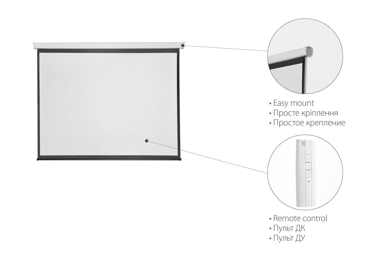 """Экран подвесной моторизированный 2E 4:3, 100"""" (2.0х1.5 м) фото 2"""