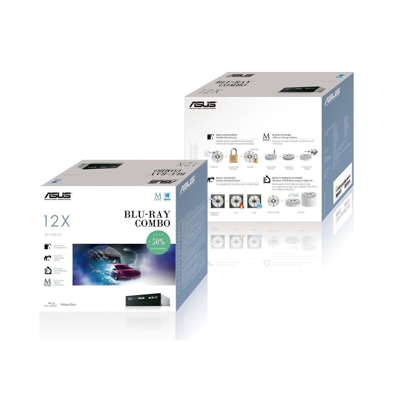Оптичний привід ASUS BC-12D2HT Blu-ray Combo Drive SATA INT Bulk Blackфото2