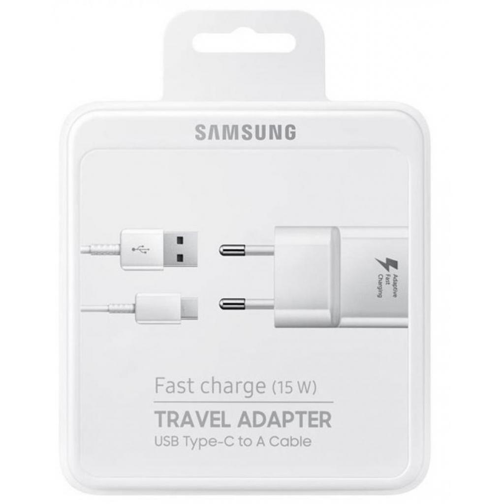 Сетевое зарядное устройство Samsung EP-TA20 Fast Charger + Type-C Cable White фото 5