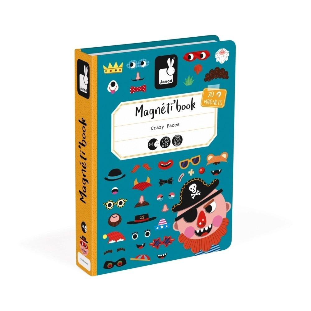 Магнитная книга Janod Смешные лица - мальчик (J02716) фото
