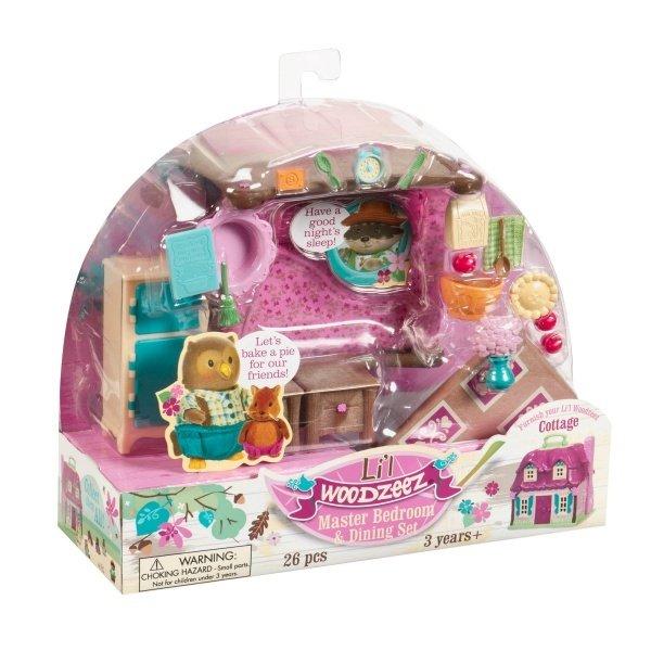 Игровой набор Lil Woodzeez Спальня и столовая (6127Z) фото