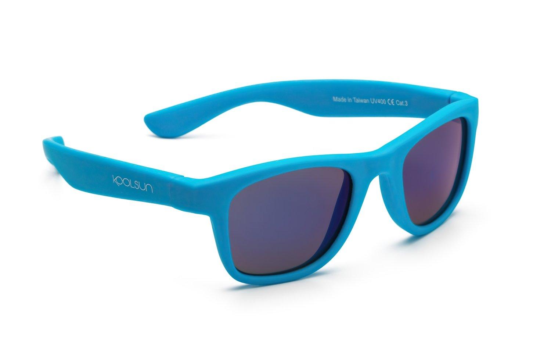 Детские солнцезащитные очки Koolsun Wawe неоново-голубые (Размер 3+) (KS-WANB003) фото 2