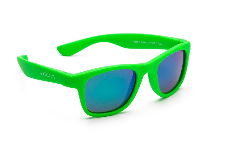 Детские солнцезащитные очки Koolsun Wawe неоново-зеленые (Размер 3+) (KS- 9e9871c014e63