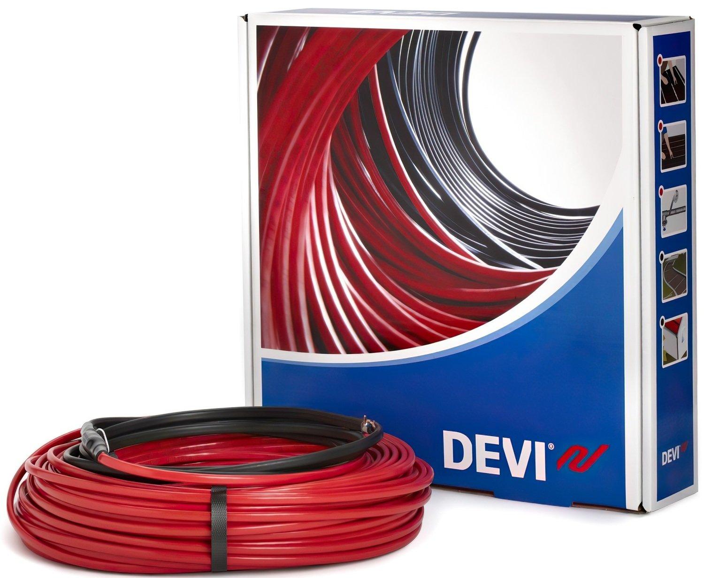 Тепла підлога DEVI Flex двожильний нагрівальний кабель 18T, 1485 Вт, 230V, 82м (140F1247) фото