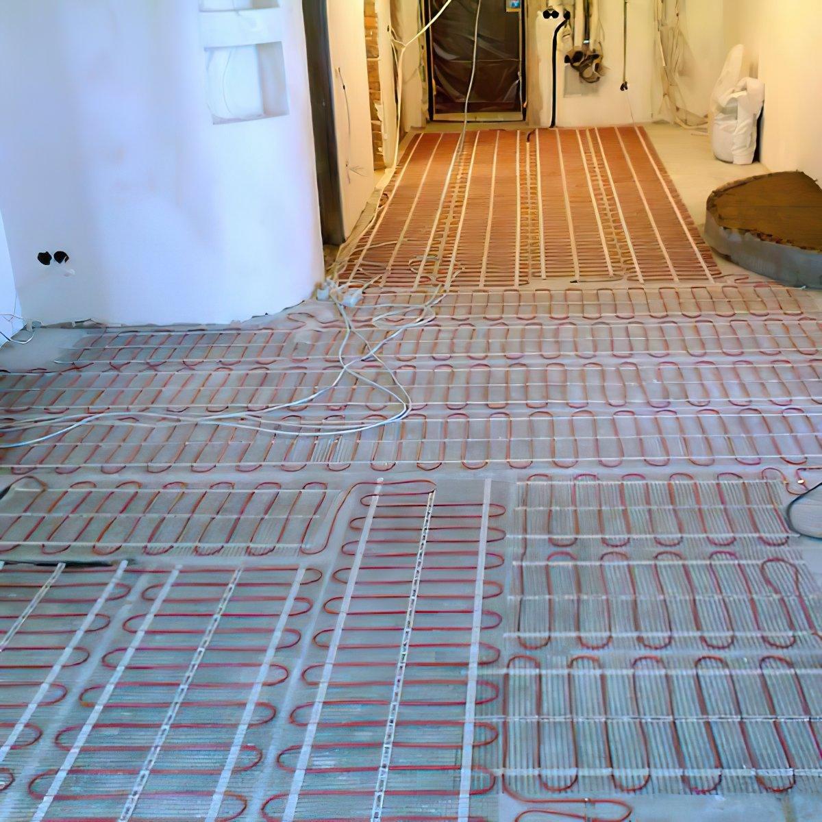 Тепла підлога DEVI Comfort двожильний нагрівальний мат DTIR -150 12 м2 фото