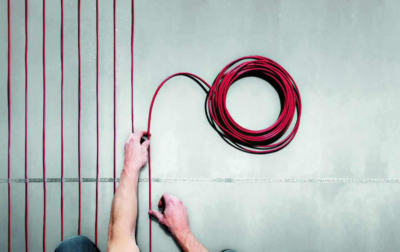 Тепла підлога DEVI Flex двожильний нагрівальний кабель 18T, 3050 Вт, 230V, 170м (140F1402) фото