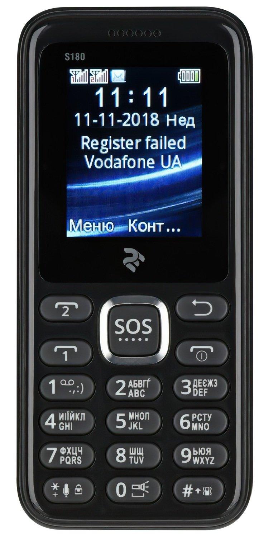 Мобильный телефон 2E S180 DS Black фото 2