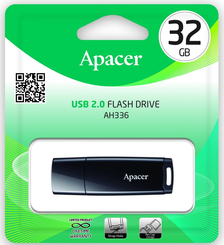 Накопичувач USB 2.0 APACER AH336 32GB Black (AP32GAH336B-1) фото3