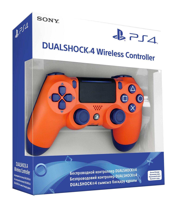 Беспроводной геймпад SONY Dualshock V2 Sunset Orange для PS4 (9918264) фото 5