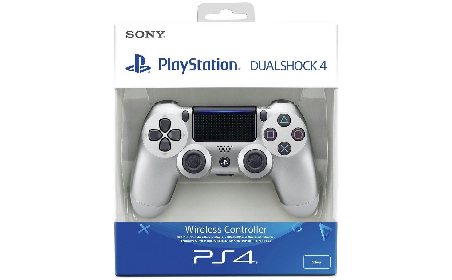 Беспроводной геймпад SONY Dualshock 4 V2 Silver для PS4 (9895954) фото 5