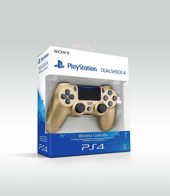 Беспроводной геймпад SONY Dualshock 4 V2 Gold для PS4 (9895558) фото 5