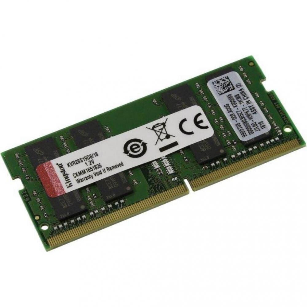 Пам'ять для ноутбука KINGSTON DDR4 2666 16GB, SO-DIMM (KVR26S19D8/16)фото2