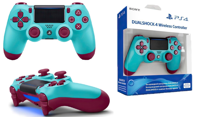 Беспроводной геймпад SONY Dualshock 4 V2 Berry Blue (9718918) фото 5