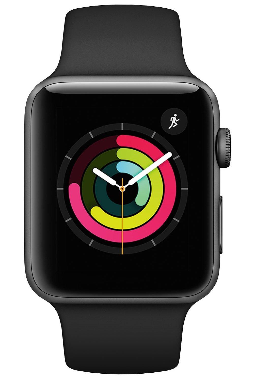 Смарт-часы Apple Watch Series 3 GPS 42mm Space Grey Aluminium Case with Black Sport Band (MTF32FS/A) фото