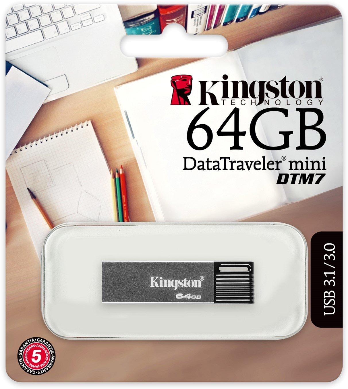 Накопичувач USB 3.0 DataTraveler Mini 64GB (DTM7/64GB) фото3