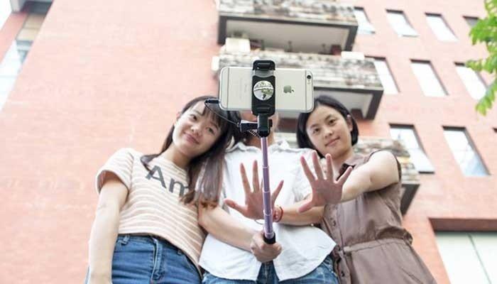 Монопод для смартфона Remax mirow Selfie Stick Gold фото