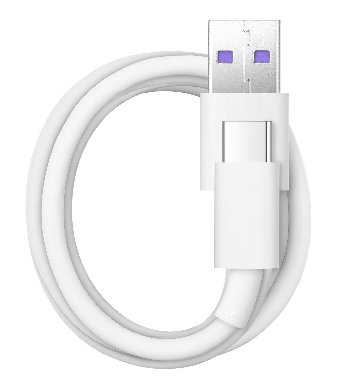 Мережевий зарядний пристрій Huawei AP81 SuperCharger+Type-C Cable White фото4