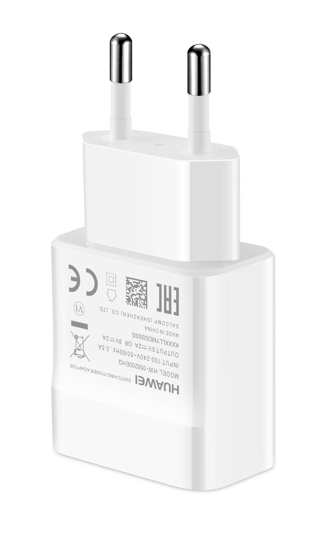 Мережевий зарядний пристрій Huawei AP32 QuickCharger+microUSB Cable White фото4