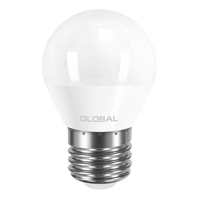 Светодиодная лампа GLOBAL G45 F 6W яркий свет 220V E27 AP (1-GBL-242) фото 2