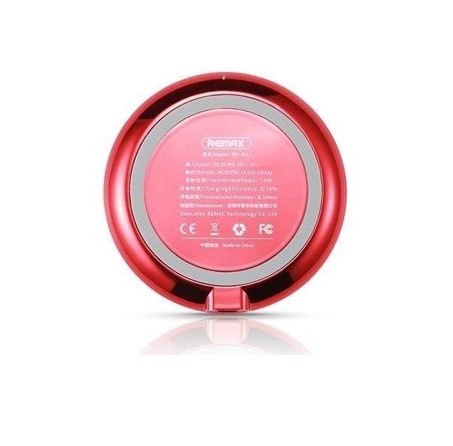 Беспроводное зарядное устройство Remax Wireless Linon 10W Red фото 2
