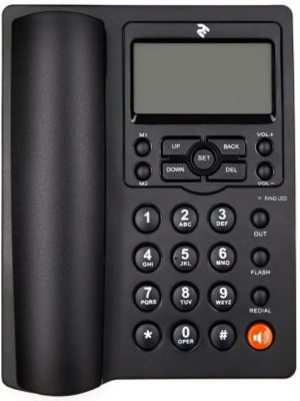 Телефон шнуровой 2E AP-410 Black фото 2