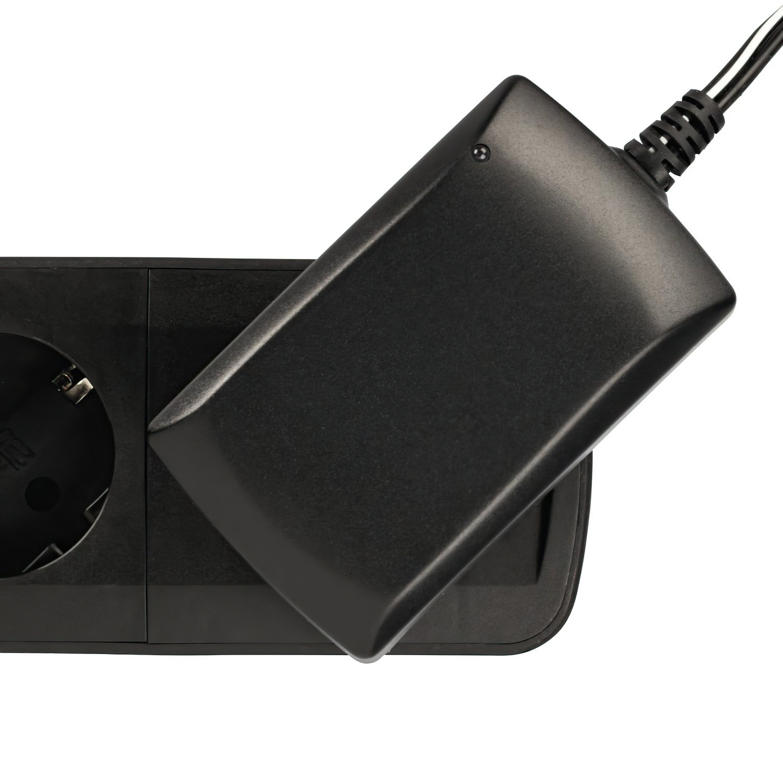 """Удлинитель НАМА """"TIDY-Line"""" на 4 розетки, с выключателем, 1.5м, черный / серый фото 6"""