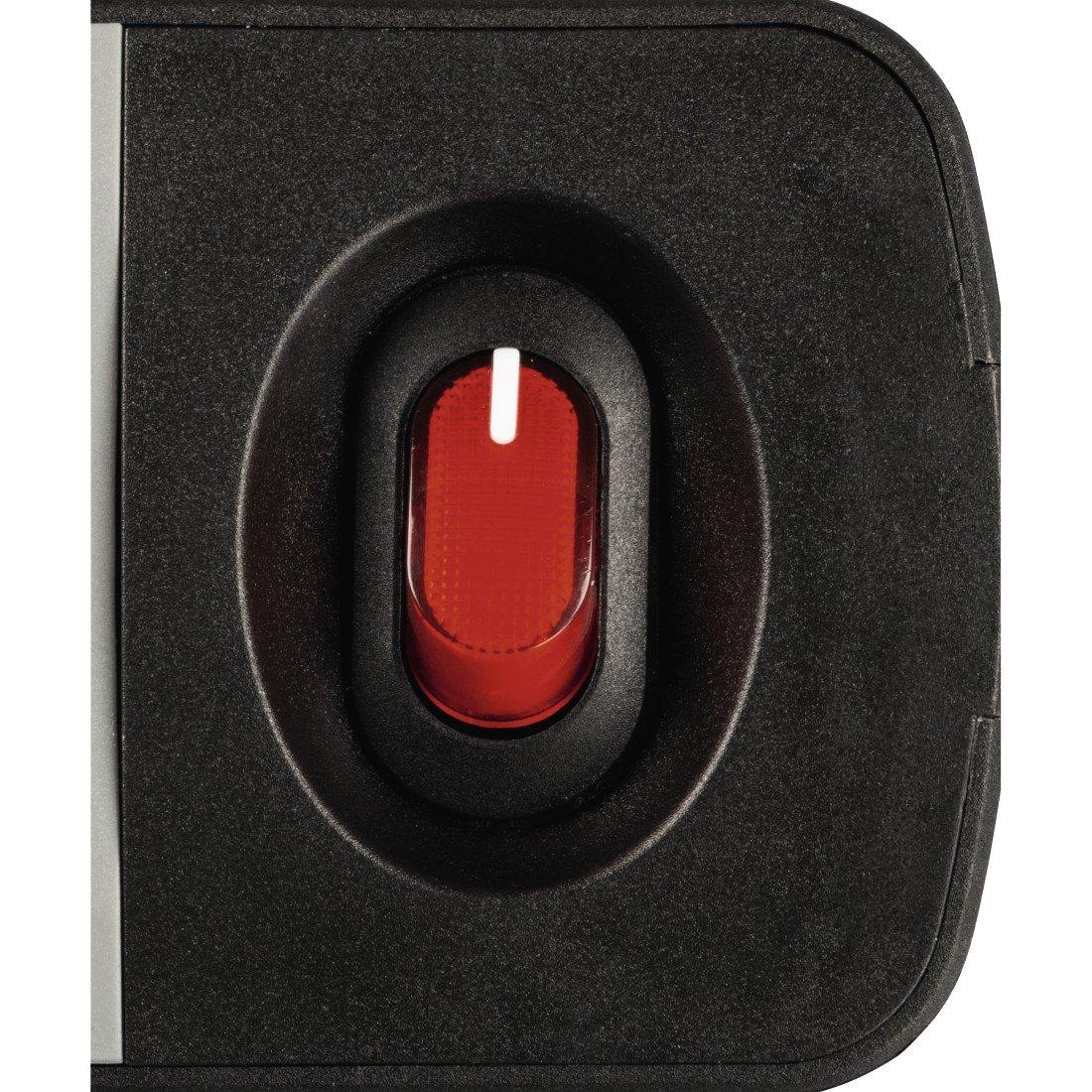 """Подовжувач НАМА"""" TIDY-Line"""" на 6 розеток, з вимикачем, 1.5м, чорний/сірий фото"""
