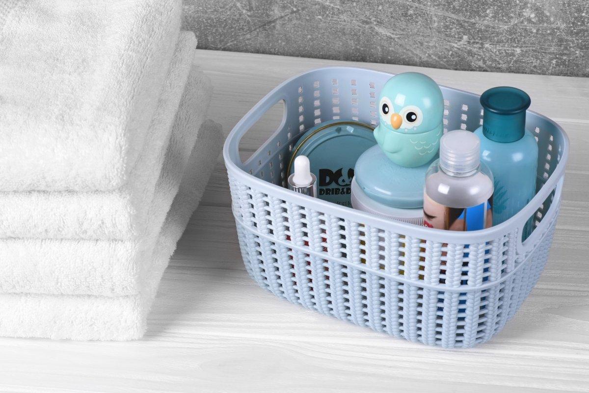 Корзинка плетеная Ardesto Sweet Home голубая 3 л (AR1730SP) фото 2