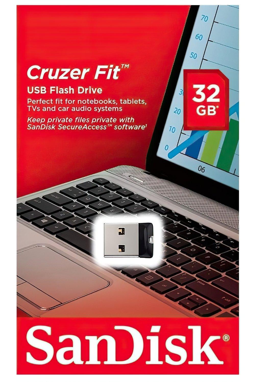 Накопичувач USB 2.0 SANDISK Cruzer Fit 32GB (SDCZ33-032G-G35) фото4
