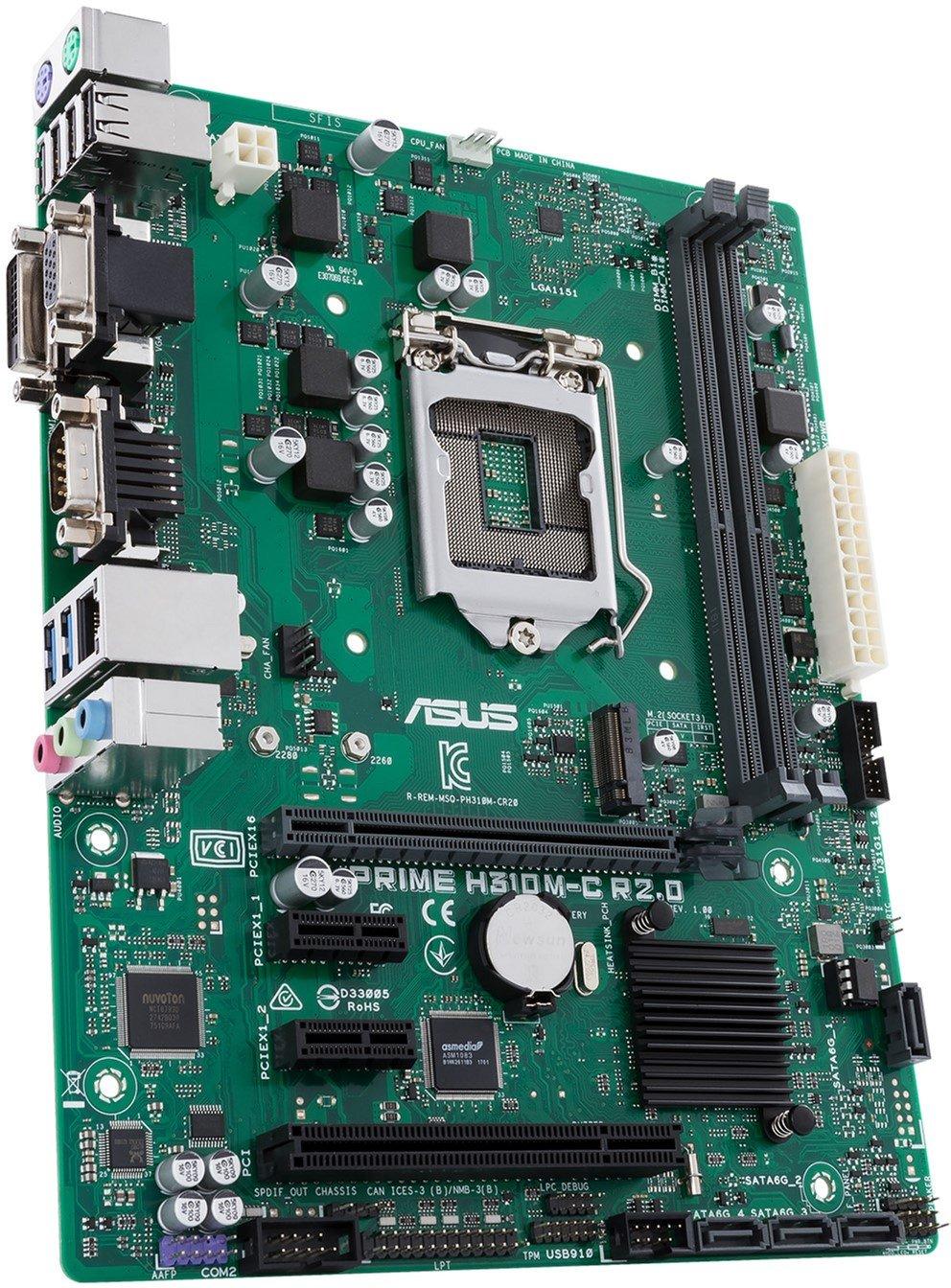 Материнська плата ASUS PRIME H310M-C R2.0 фото