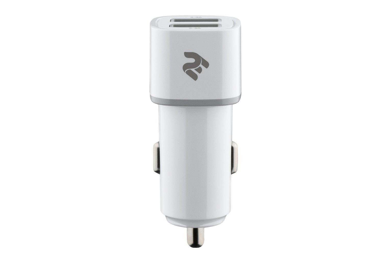 Автомобильное зарядное устройство 2E Dual USB Charger 2xUSB 2.4A White фото 2