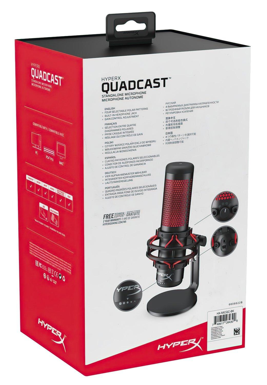 Микрофон HyperX QuadCast Mic (HX-MICQC-BK) фото 10