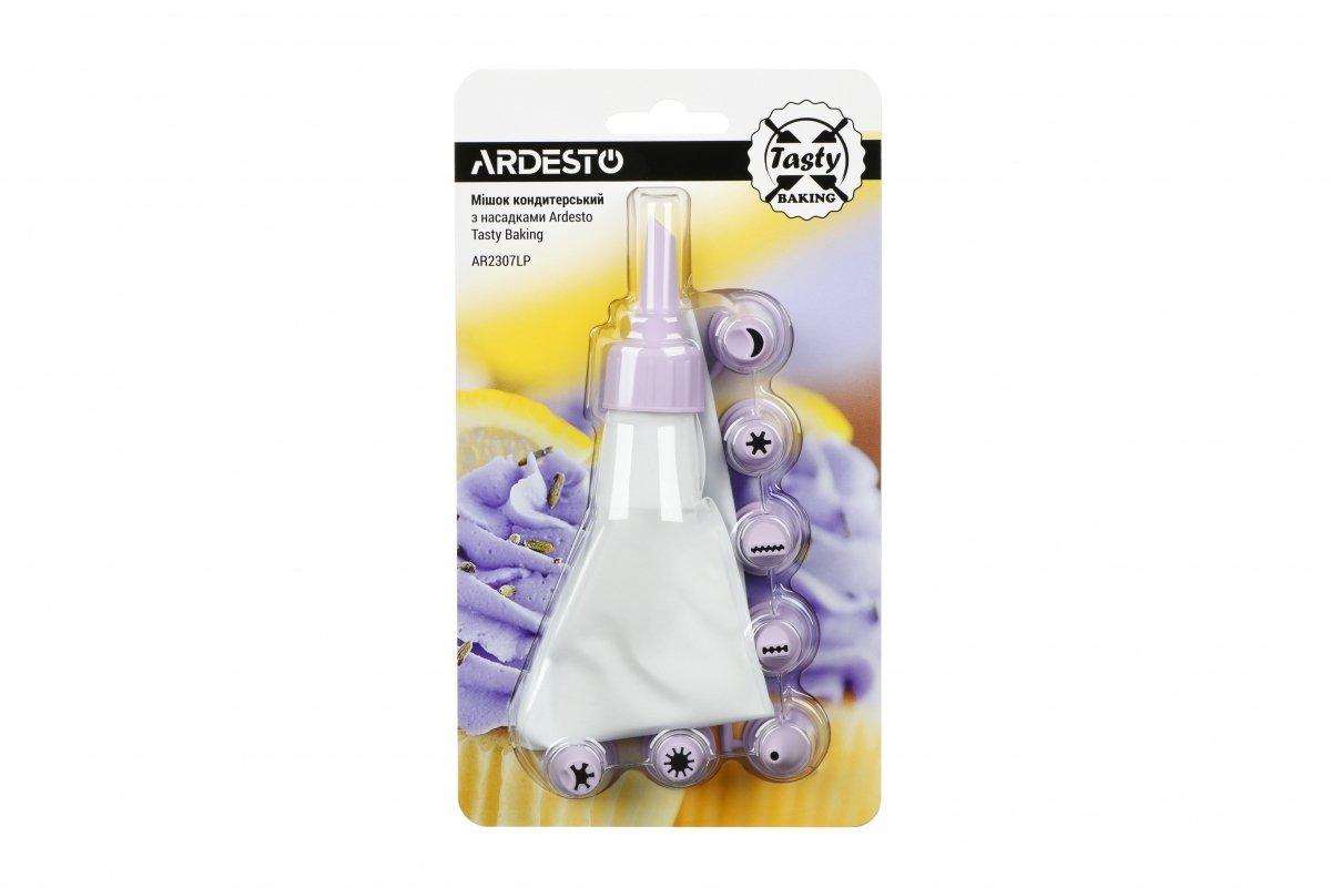 Мешок кондитерский с насадками Ardesto Tasty baking лиловый (AR2307LP) фото 2