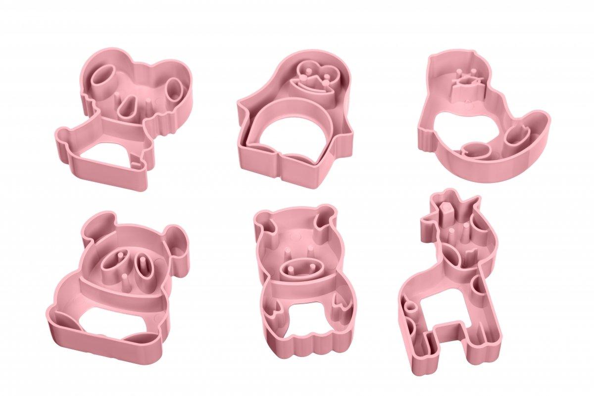 Набор форм для печенья Ardesto Tasty baking розовый 6 шт (AR2309PP) фото 3