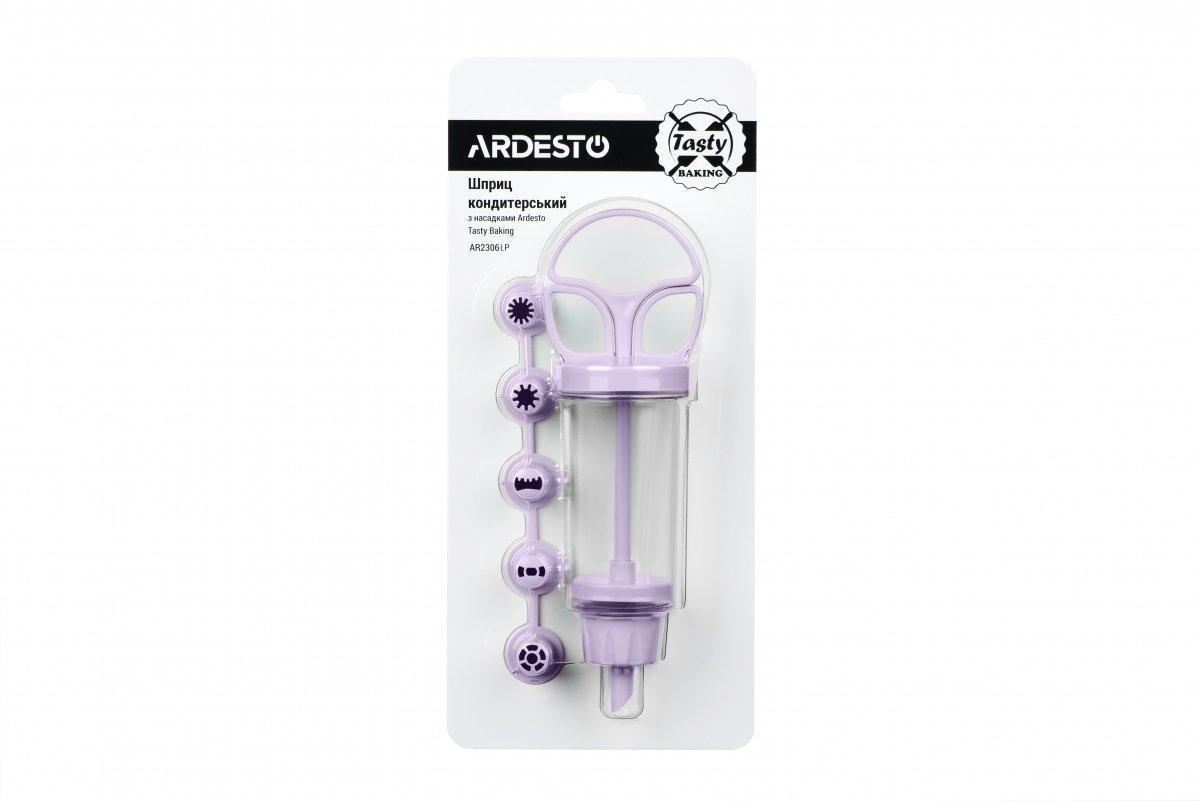 Шприц кондитерский с насадками Ardesto Tasty baking лиловый (AR2306LP) фото 2