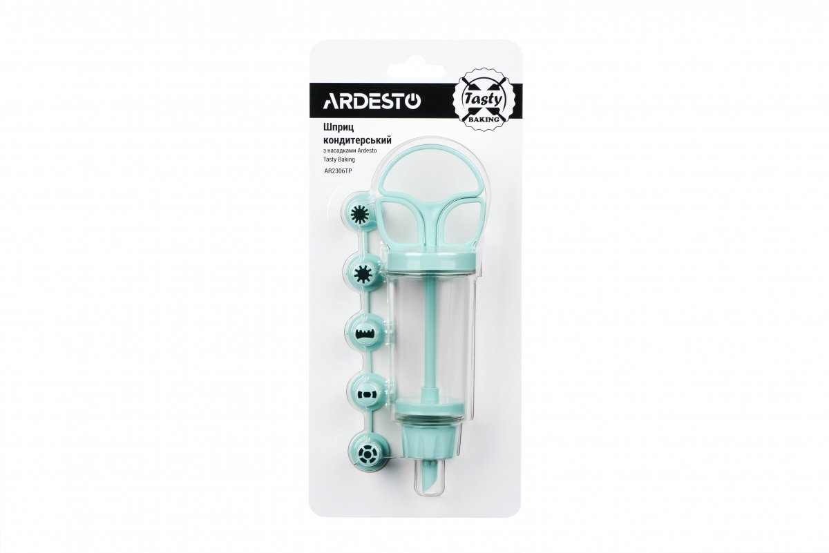 Шприц кондитерський з насадками Ardesto Tasty baking блакитний (AR2306TP) фото2
