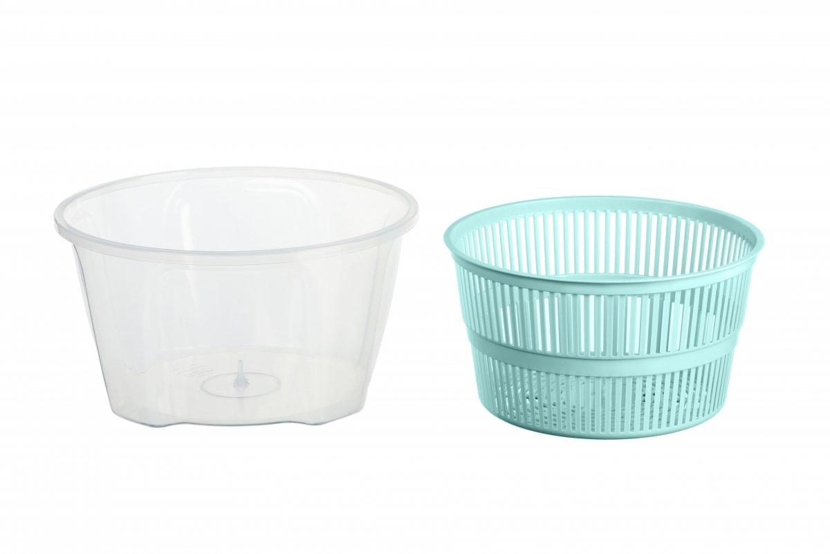 Сушка для салата Ardesto Fresh голубая 4,4 л (AR1603TP) фото 2