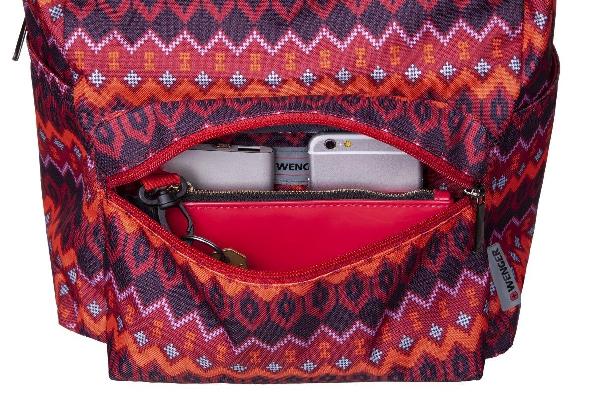 "<p>Рюкзак для ноутбука Wenger Colleague 16"" (Red Native Print)</p>фото7"