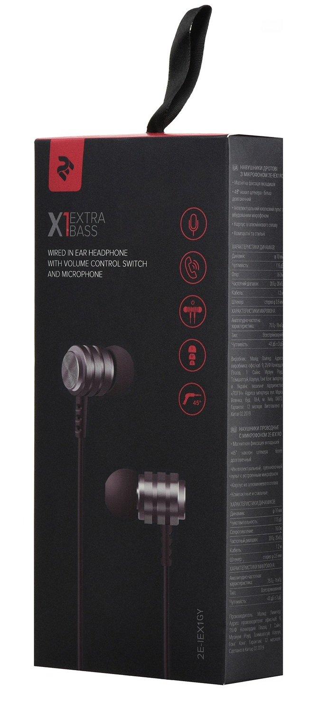 Навушники 2E X1 Extra Bass Gray фото3