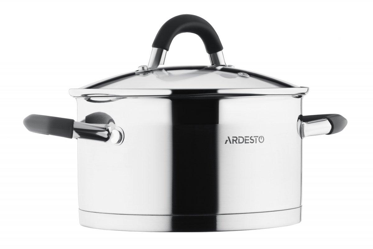 Набор посуды Ardesto Gemini со сливом, 6 предметов (AR1906GS) фото
