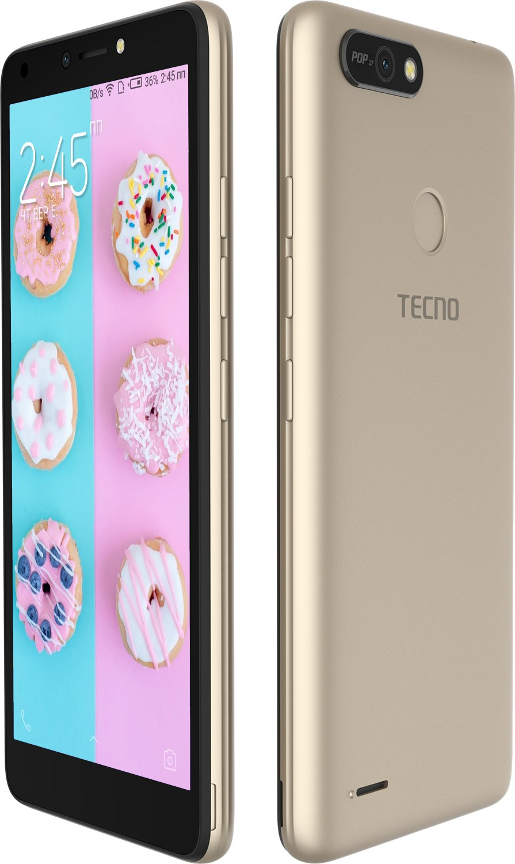 Смартфон TECNO POP 2F (B1F) 1/16GB DS Champagne Gold фото