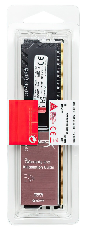 Память для ПК HyperX DDR4 2400 16GB Fury Black (HX424C15FB3/16) фото 5