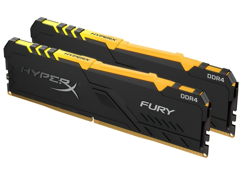 Пам'ять для ПК HyperX DDR4 3200 16GB Fury RGB Black (HX432C16FB3AK2/16) фото2